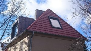 Fertiges Dach mit Aufdachdämmung