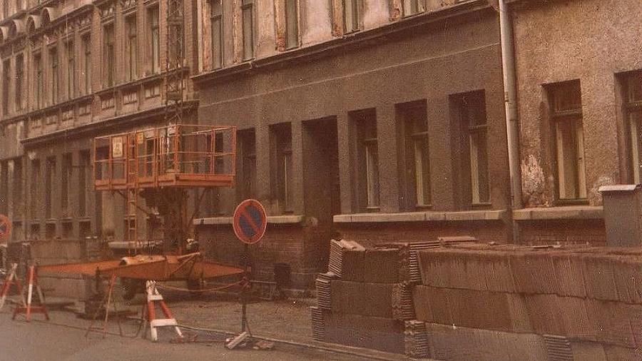 Baustelle von 1988