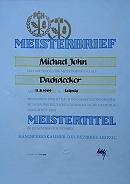 Meisterbrief Michael John